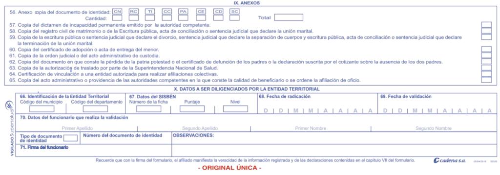documentos afiliacion