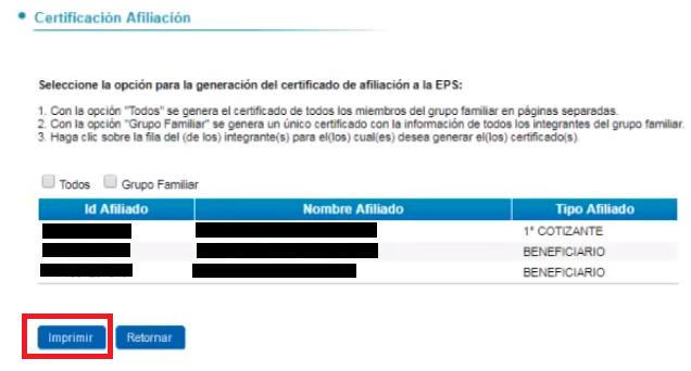 imprimir certificado