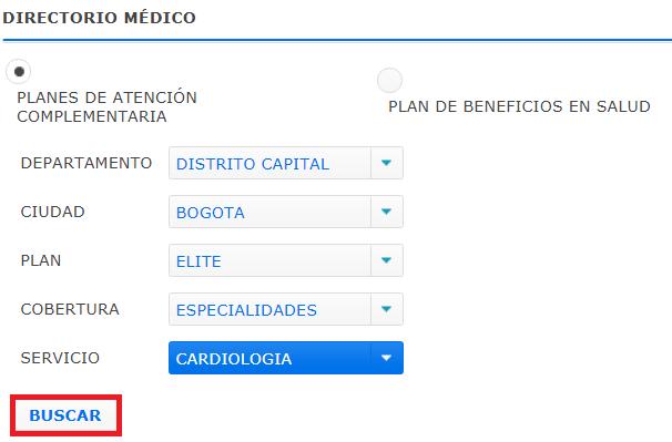 instituaciones medicas disponibles